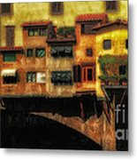 Ponte Vecchio Firenze Metal Print