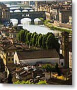 Ponte Vecchio Late Afternoon Metal Print by Jon Berghoff