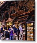 Ponte Vecchio Merchants - Florence Metal Print