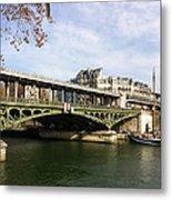 ponte verde a Parigi Metal Print
