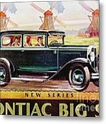 Pontiac Big Six - Poster Metal Print