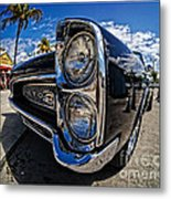 Pontiac Gto Convertible Ft Myers Beach Florida Metal Print by Edward Fielding