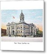 Pontiac Michigan - Ponitiac Court House - 1910 Metal Print