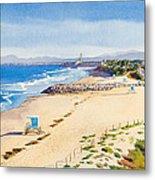 Ponto Beach Carlsbad California Metal Print by Mary Helmreich
