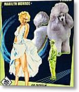 Poodle Art - The Seven Year Itch Movie Poster Metal Print