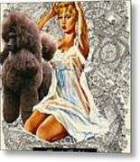 Poodle Art - Una Parisienne Movie Poster Metal Print