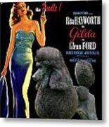 Poodle Standard Art - Gilda Movie Poster Metal Print