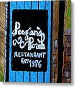 Poogan's Porch Metal Print