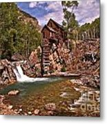 Pool Below The Mill Metal Print