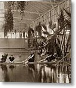 Pool In The Del Monte Bath House Monterey Circa 1885 Metal Print
