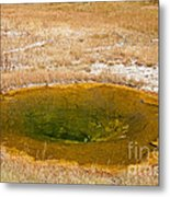 Pool In Upper Geyser Basin In Yellowstone National Park Metal Print