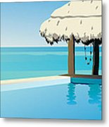 Pool On The Ocean Metal Print