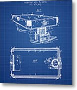 Pool Table Patent From 1892 - Blueprint Metal Print