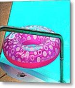 Pool Time Palm Springs Metal Print