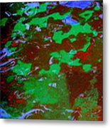 Poolwater Abstract Metal Print