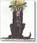 Poor Jack At Mardi Gras Metal Print by Ellen Howell
