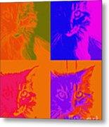 Pop Art Cat  Metal Print by Ann Powell