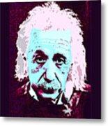 Pop Art Einstein No 3 Metal Print