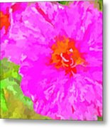 Pop Art Floral Metal Print