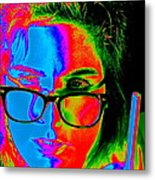 Pop Art Lady Metal Print by Arie Arik Chen