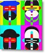 Pop Art People 4 2 Metal Print