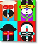 Pop Art People Quattro Metal Print