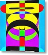Pop Art People Totem 7 Metal Print