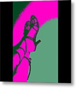 Pop Art Shoes In Pink Metal Print
