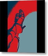 Pop Art Shoes In Red Metal Print