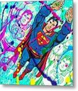 Pop Art Superman Metal Print