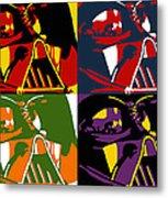 Pop Art Vader Metal Print