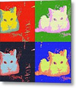 Pop Kitty Metal Print