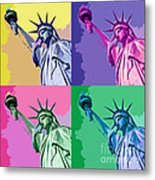 Pop Liberty Metal Print