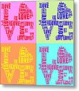 Pop Love Collage Metal Print