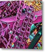 Pop Of Purple Metal Print