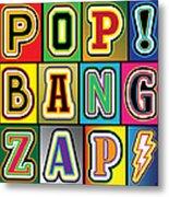 Pop Words Metal Print