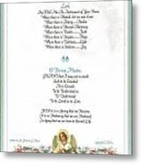 Pope Francis St. Francis Simple Prayer Florentine Angel Metal Print by Desiderata Gallery