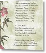 Pope Francis St. Francis Simple Prayerbutterfly On Bamboo Metal Print by Desiderata Gallery