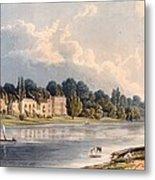 Popes Villa At Twickenham, 1828 Metal Print
