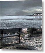 Popham Beach Maine Metal Print