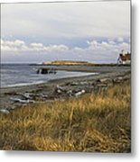 Popham Beach On The Maine Coast Metal Print