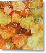 Poplar Leaves Metal Print
