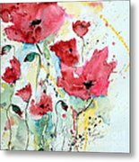 Poppies 05 Metal Print by Ismeta Gruenwald