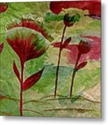 Poppies Abstract 3 Metal Print