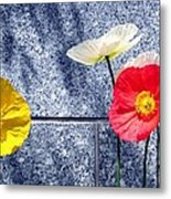 Poppies And Granite Metal Print