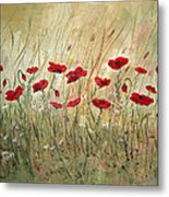 Poppies And Wild Flowers Metal Print