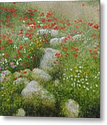 Poppies And Wildflowers Metal Print