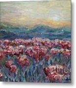 Poppies at Sunset Metal Print