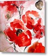 Poppies I Metal Print