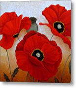 Poppies II Metal Print
